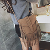 Fashion Many Tassels Ethinic Design Small Nubuck Leather Shoulder Bags for Girls