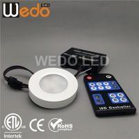 Black Housing ETL LED Puck light for under counter led lighting