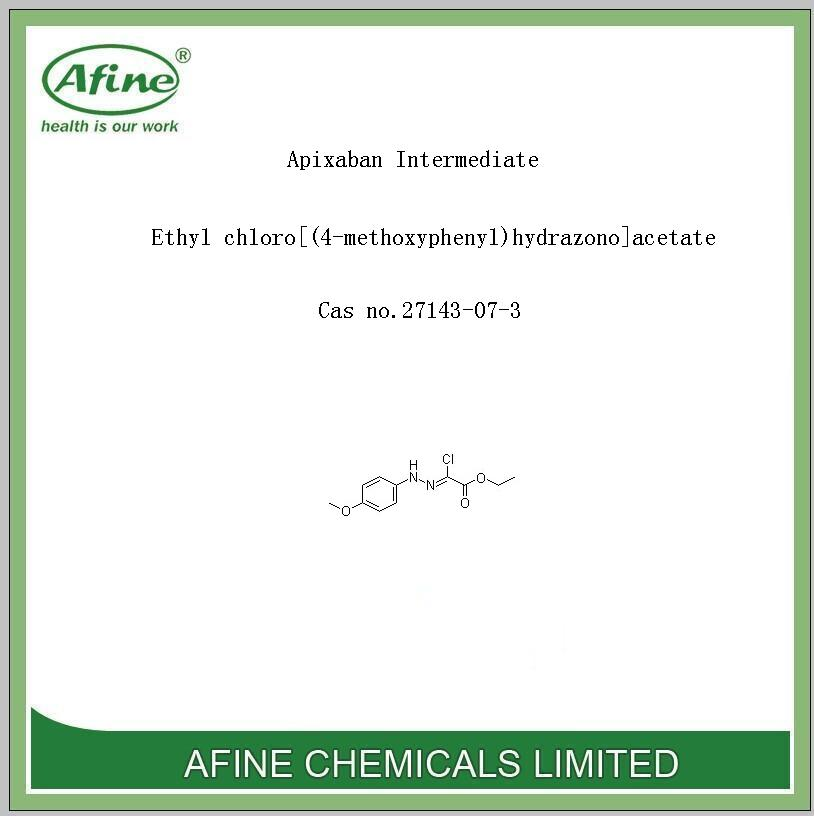 High quality Apixaban Intermediate Ethyl chloro[(4-methoxyphenyl)hydrazono]acetate Cas no.27143-07-3