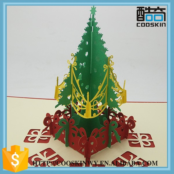 Custom Logo Decorative Paper handmade christmas cards