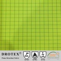 300D oxford flame retardant, anti-static and fluorescent yellow fabric for raincoat