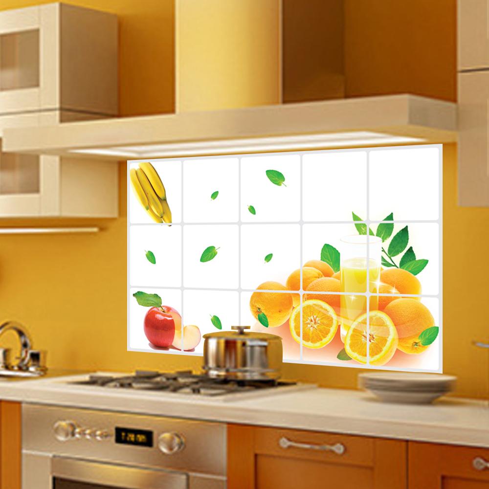 3023 frutta verdura piastrelle pattern anti olio da cucina for Adesivi murali piastrelle cucina
