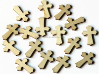 2016 Unfinished Wood Easter Cross Shapes made in China