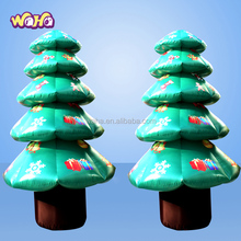 Hot sale event decoration inflatable Christmas tree with led light
