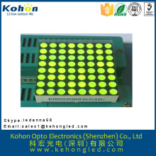 High-brightness common cathode green color 8*8 LED dot matrix display