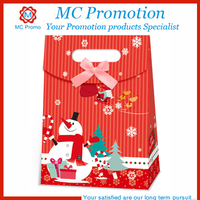 customized christmas brown paper gift bag