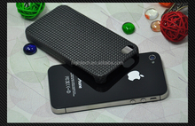For Apple iPhone 4 4S Hard Matte Carbon Fiber Snap-On Slim Case Cover
