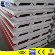Galvanized colorbond steel both side skin 75 mm eps core house prefabricated sandwich panel price