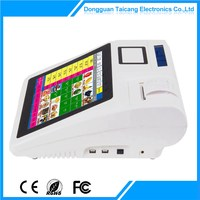 Contemporary best sell 12 inch biometric pos device/retail pos machine