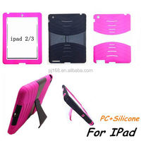 hybrid heavy duty combo hard kickstand cover case for ipad 5