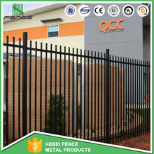 Black powder coated galvanized ornamental gates and steel fence design