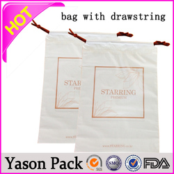 Yason plastic drawstring trash bags drawstring polybag cheap drawstring shoe bag