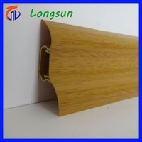 Bathroom pvc rubber decking skirting board design baseboard