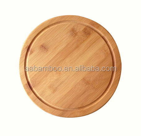 heat resistant round cheese board cutting board wood with groove