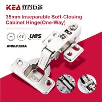 [K08B] 35mm Cup Inseparable Soft- Closing Furniture Hinge Hardware Cabinet Hinge (one way )