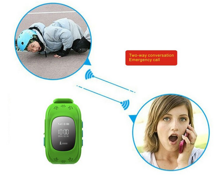 New Arrival Child mobile phone watch fashion kids smart watch Q50 silicone wristband watch