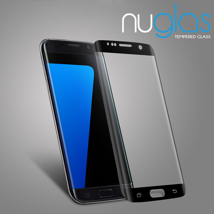 Nuglas S7 edge Tempered Glass Screen Protector 3D Curved Edge with Silk Printing
