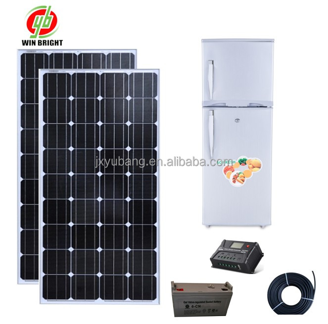 DC12V 128L Solar power refrigerator solar fridge for Africa,middle east,South America