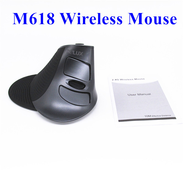 High quality Human Engineering USB Delux Wireless M618 Laser Ergonomic Vertical Mouse for PC Computer