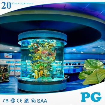 PG Large Round Customized Acrylic Fish Aquarium