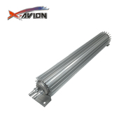 "18"" Satin Aluminum Finned Dual Pass Transmission Oil Cooler"