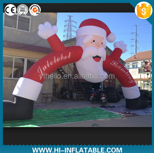 outdoor large inflatable christmas santa claus arch