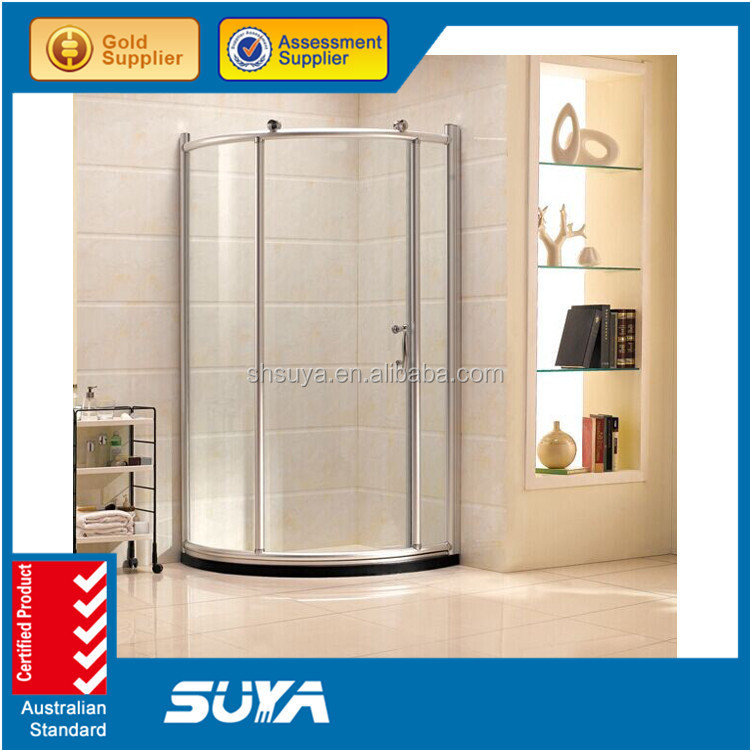 2015 Hot Sale diamond 8mm tempered glass outdoor simple shower room