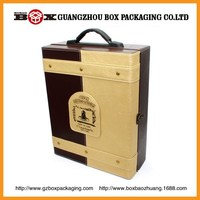 wholesale high quality customize leather wine case