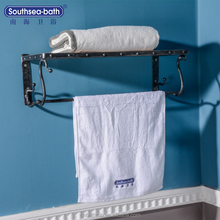 Southsea-bath Bathroom Towel Rack with Red Oak and Metal Hardware for Sale