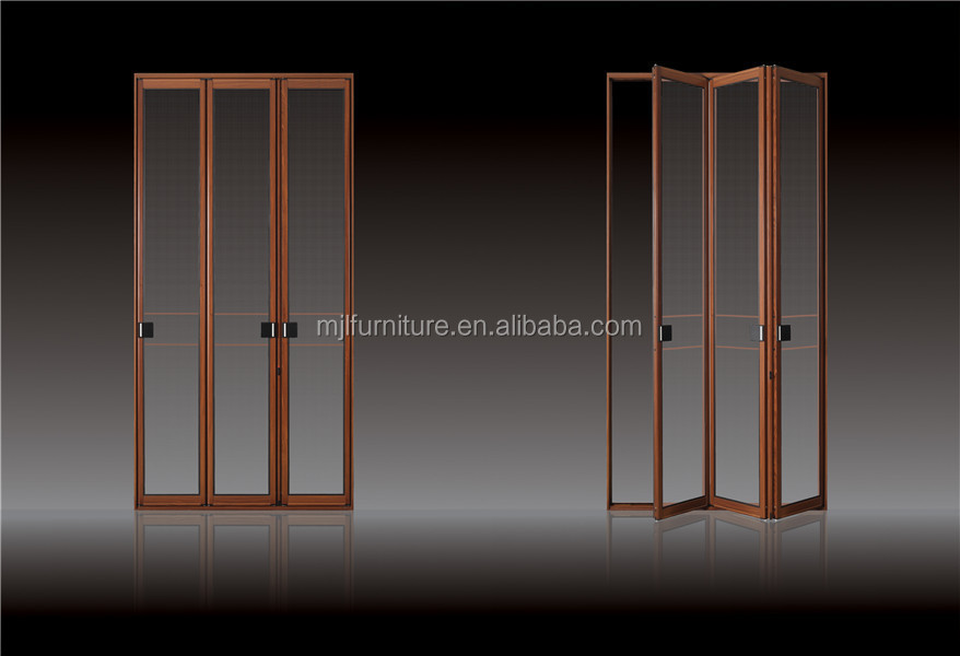 Hot Design Import Cheap OEM Bifold Glass panel Aluminum Door
