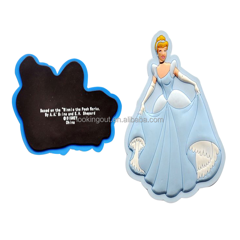 custom cartoon princess 3d soft pvc fridge magnet for disney