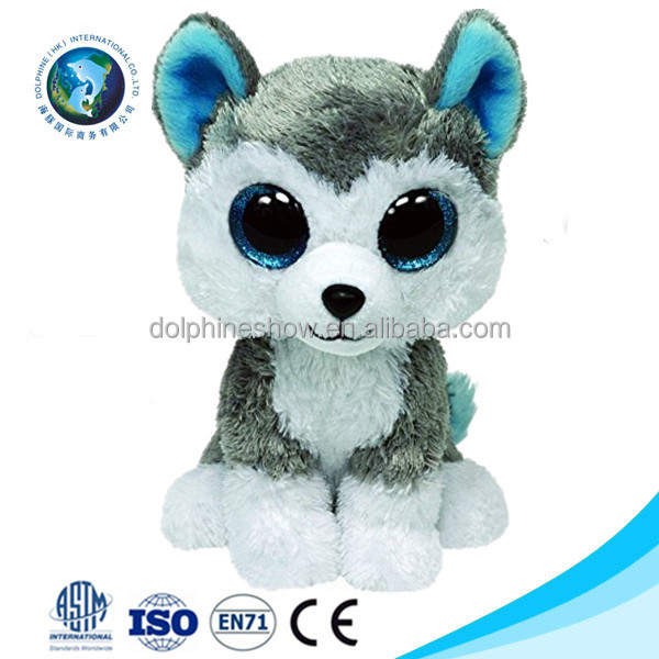 Popular cute soft plush husky dog toy for kids Wholesale cheap New stuffed animals with big eyes