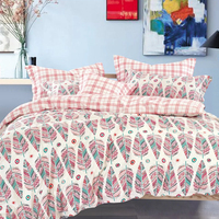 Bright color printed polyester wholesale indian bedding bedsheets