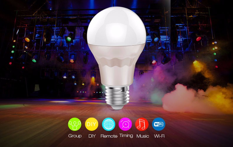 UL Listed Bluetooth LED Light, 7.5W B22 E27 Color Changing Bluetooth LED Light