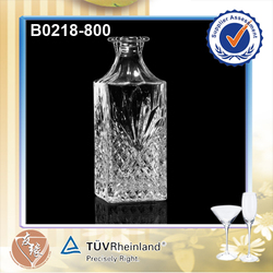 High End Tequila Bottles 80CL Glass Square Decanter Decanter