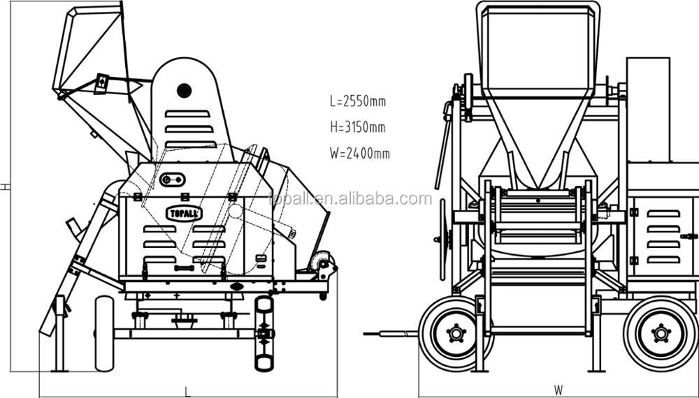 Topall Manufacturing Self-loading Concrete Mixer with Winch or Elevator