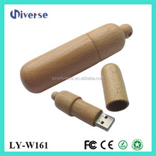 OEM natural wooden usb storage drive 1gb 2gb 4gb 8gb 16gb available(aiyze factory Welcome to order)