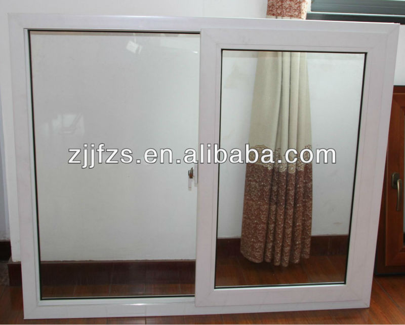 Plastic sliding window with 60 series, single pane sliding upvc windows