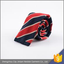 Top selling OEM accept solid color designer polyester knitting necktie