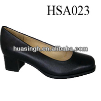 GH,split cow leather women oxford officer military shoes a little heel for police
