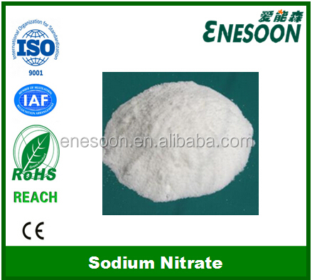 Sodium Nitrate NaNO3 used fertilizers, pyrotechnics and food preservative
