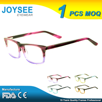 Wholesale Joysee Brands Fashion Two Color Women Ladies And Girls Acetate Prescription New Model Eyewear Frame Glasses