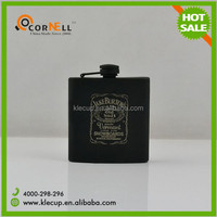 russia flask Black painting stainless steel hip flask liquor flask