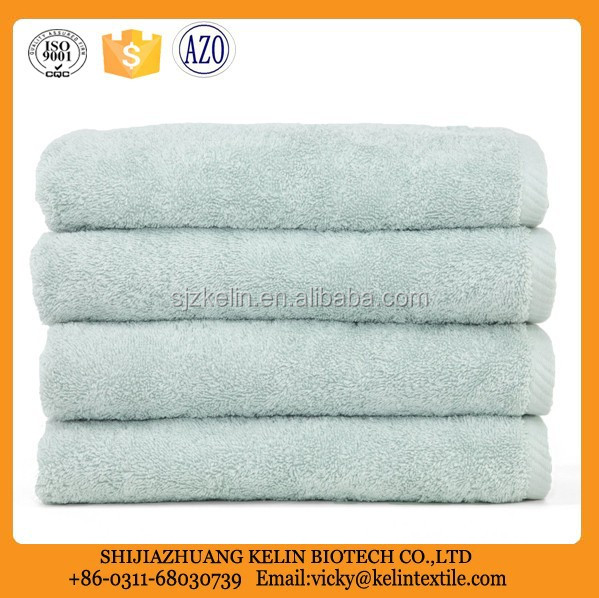 soft twist Aqua Blue combed Cotton Towel for hand and face use
