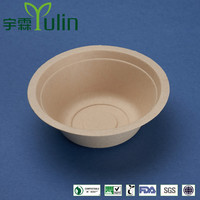 BL-35-UB 350ml unbleached disposable sugarcane bowl