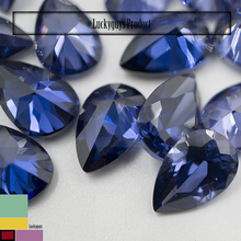 2016 Hot Sale 5X7 mm tanzanite pear Cubic Zircon Gemstone CZ Loose Stones