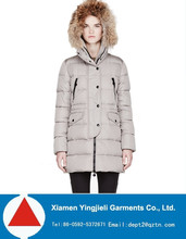 2014 Winter Womens Thermal Long Down Jacket with Fur Hood