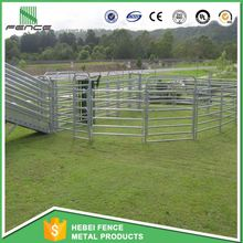 1.8mx2.1m 6 bar oval rail cattle panels/3.0m decorative lattice panels/5 rail galvanized steel horse panel