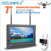 For quad helicopter camera 7 inch 16:9 FPV monitor