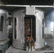 2T 3T Energy saving aluminum/copper/steel scrap melting induction furnace